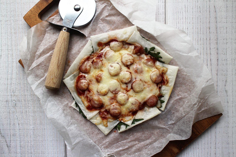 大葉とお餅のピザ
