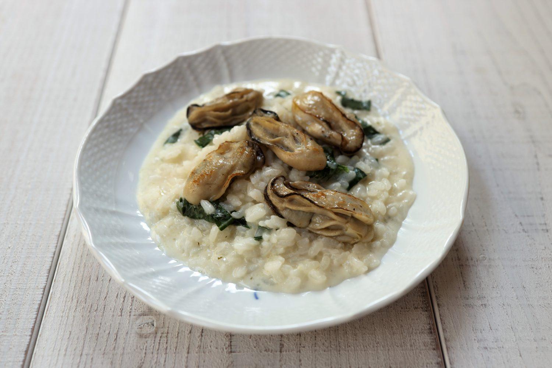 牡蠣と大葉のクリームリゾット